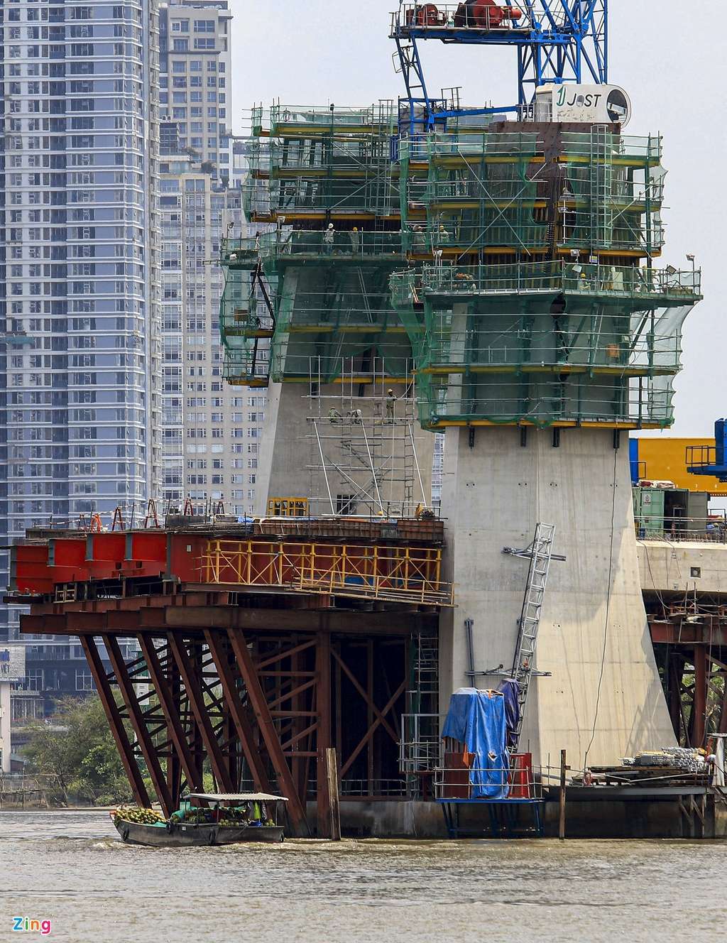 Cầu Thủ Thiêm 2 lộ hình dáng sau 5 năm khởi công - 3