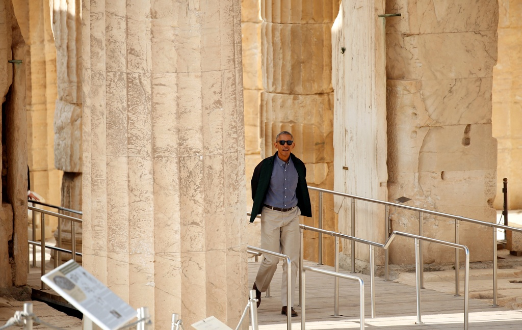 Obama den xu than thoai, thuc hien uoc mo tham den Parthenon hinh anh 4