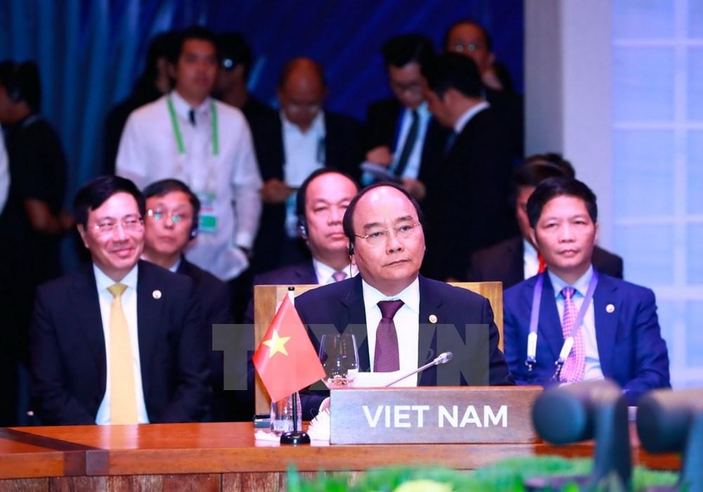 Thu tuong Nguyen Xuan Phuc du phien hop toan the Hoi nghi ASEAN hinh anh 6