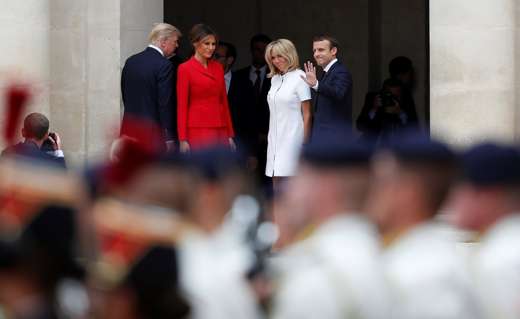 Trump gap Macron anh 9