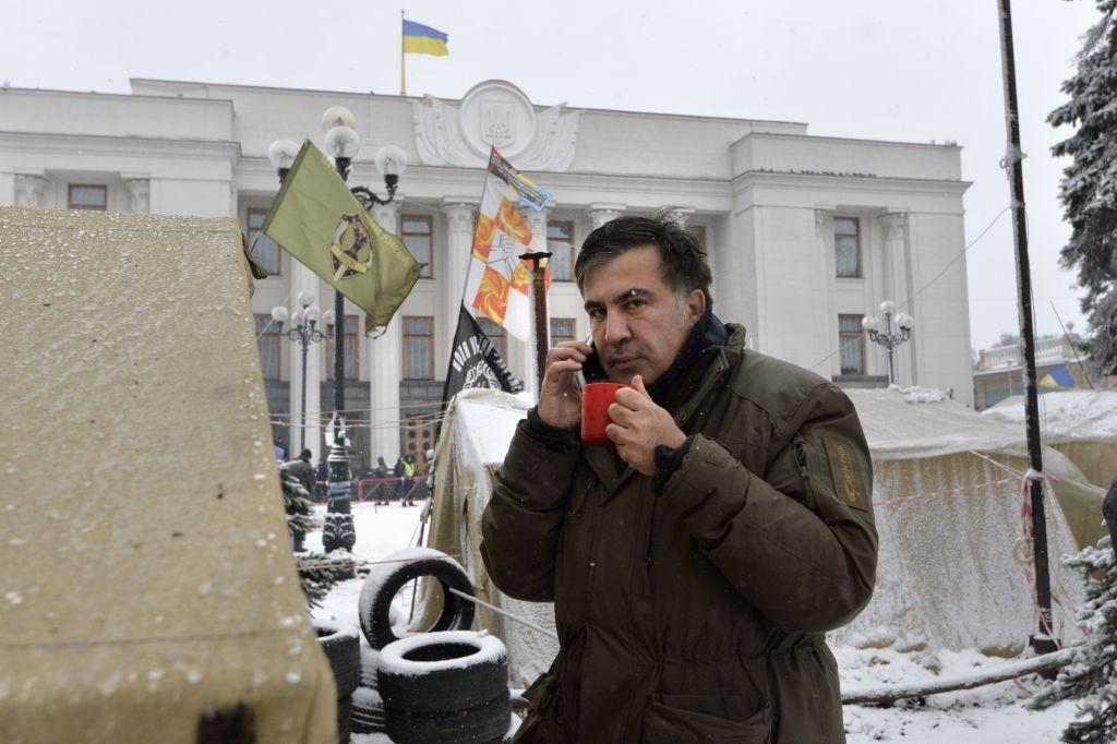 Ukraine: Nguoi bieu tinh dung leu 'giau' cuu tong thong Gruzia hinh anh 9