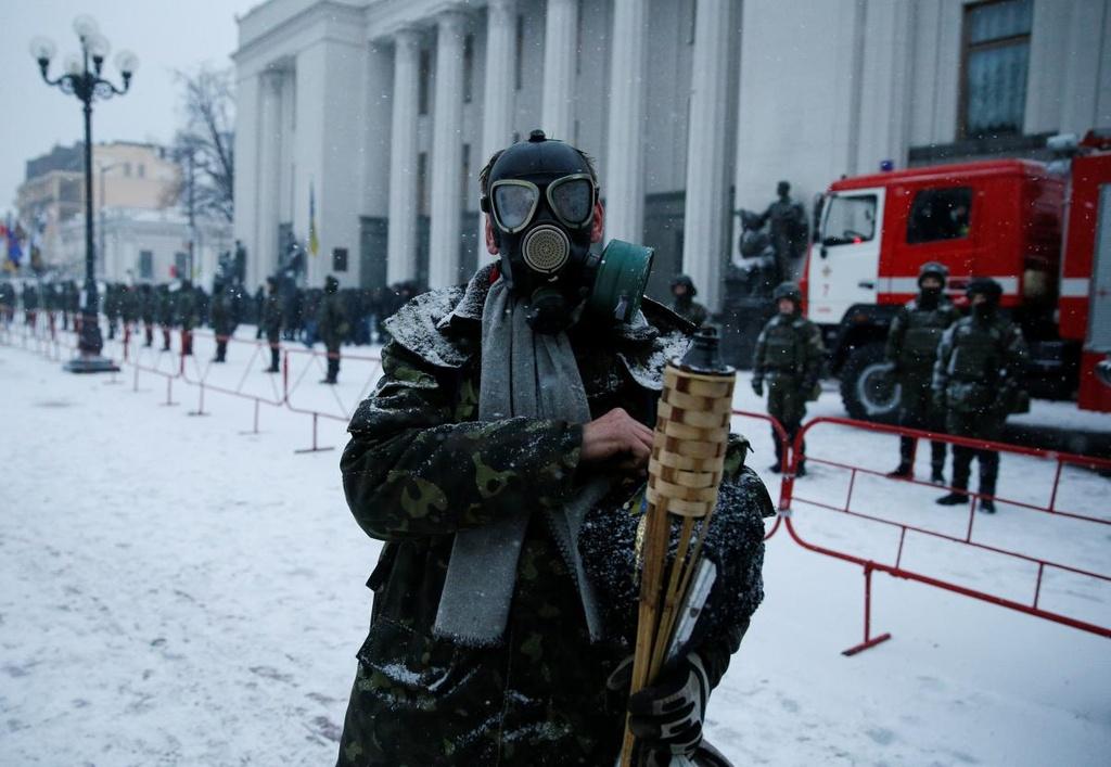 Ukraine: Nguoi bieu tinh dung leu 'giau' cuu tong thong Gruzia hinh anh 5