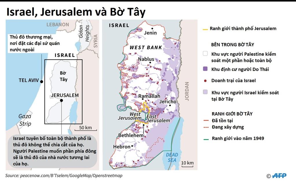 Xung dot Palestine Israel anh 1