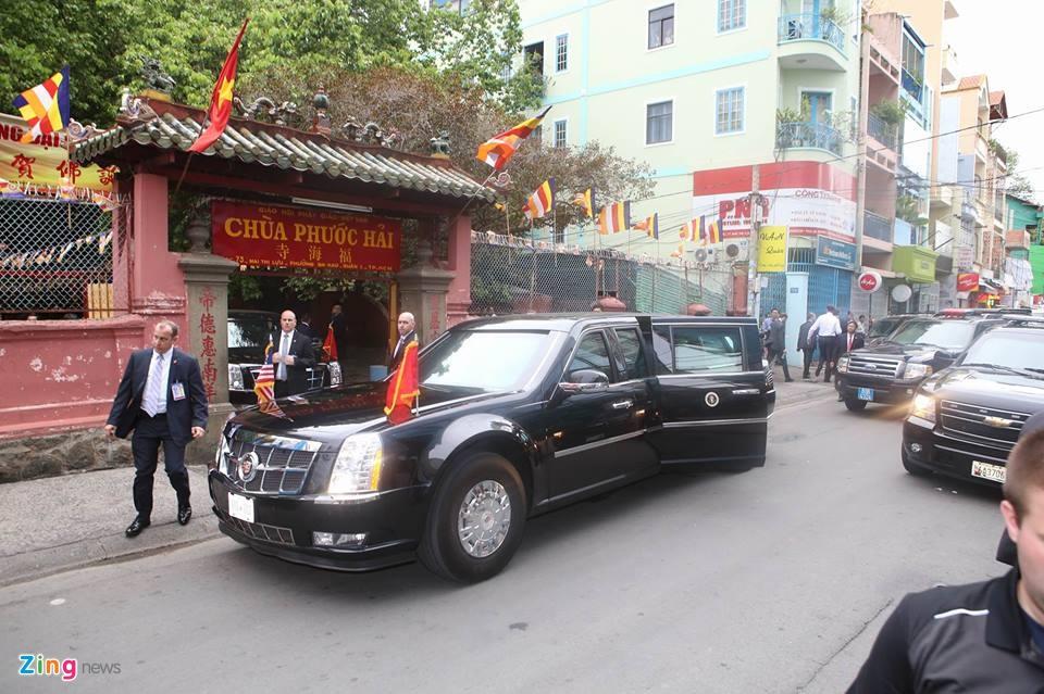 Tong thong Obama tham chua Ngoc Hoang o Sai Gon hinh anh 1