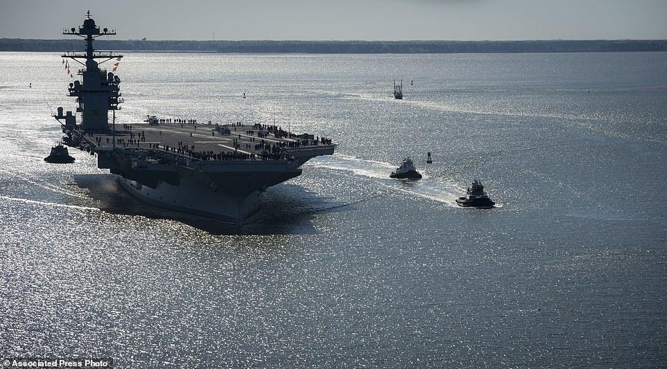 tau san bay USS Gerald Ford anh 4
