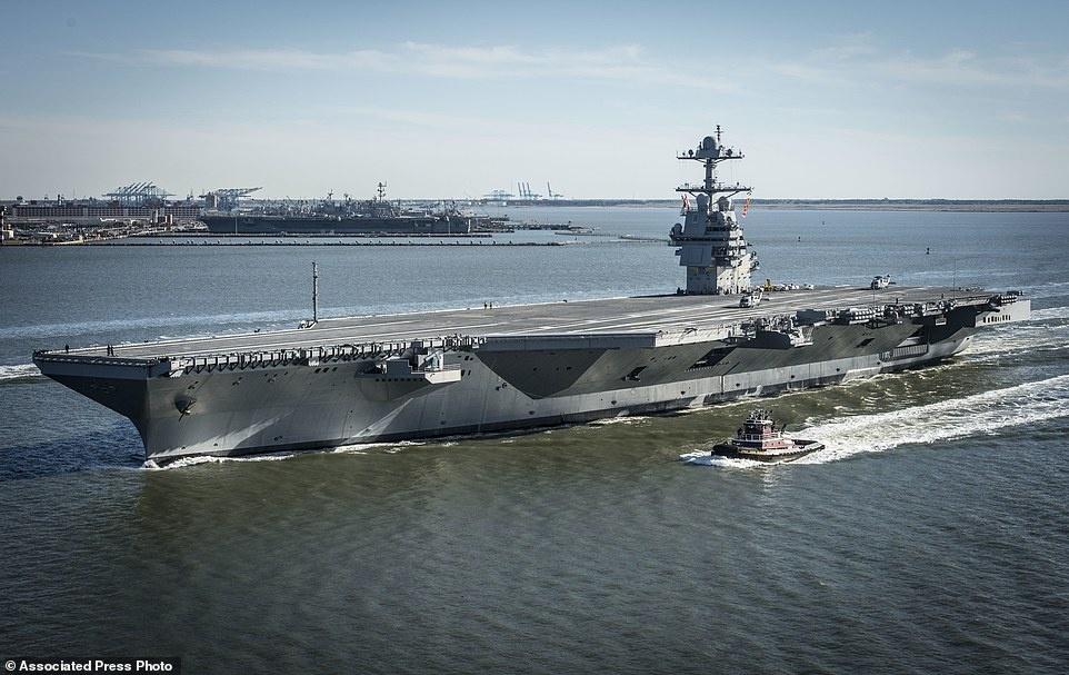 tau san bay USS Gerald Ford anh 5