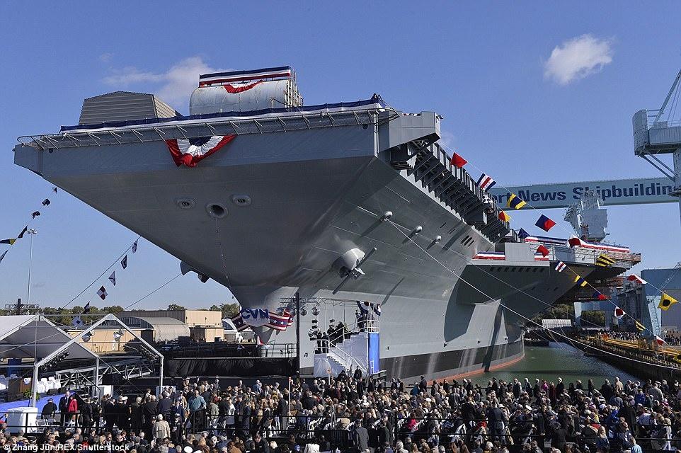 tau san bay USS Gerald Ford anh 8