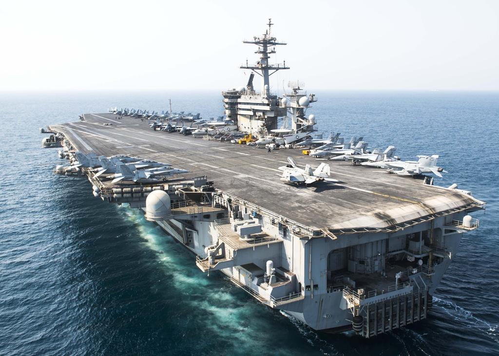 USS Ronald Reagan,  USS Theodore Roosevelt,  USS Nimitz,  tau san bay My,  Thai Binh Duong anh 2