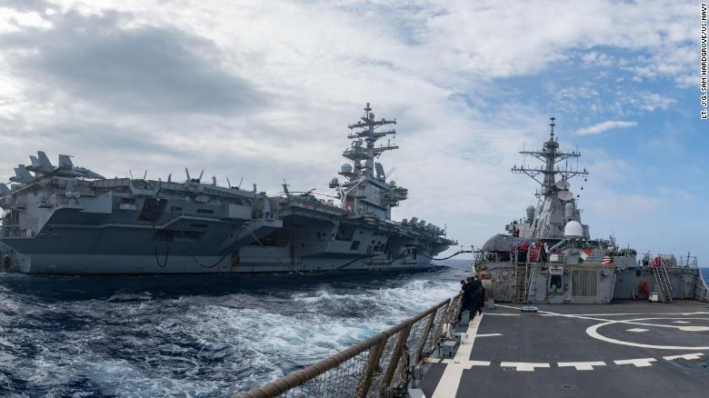 USS Ronald Reagan,  USS Theodore Roosevelt,  USS Nimitz,  tau san bay My,  Thai Binh Duong anh 1