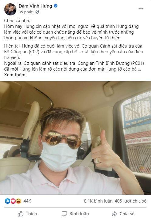 Dam Vinh Hung to ba Nguyen Phuong Hang anh 1