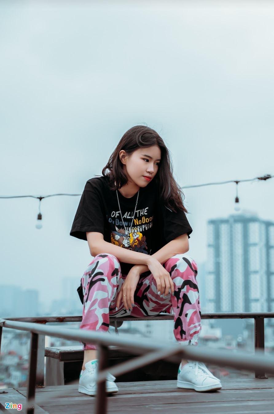 Nu sinh 10X sang tac 'Hai phut hon' co ban trai la rapper hinh anh 7 phao7_zing.JPG