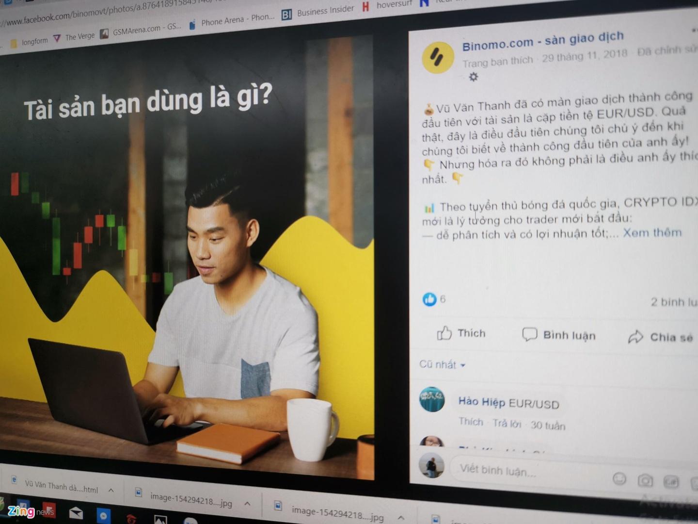 Hình ảnh Văn Thanh gắn liền với Binomo từ cuối năm 2018.