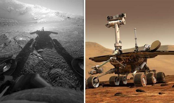 Ngày 14/2, NASA chính thức xác nhận họ không thể liên lạc được với robot Opportunity. NASA mất liên lạc với Opportunity 8 tháng trước, sau một cơn bão cát lớn che khuất mặt trời. Mọi nỗ lực liên lạc với Opportunity trong thời gian đó là vô vọng. Ảnh: NASA.