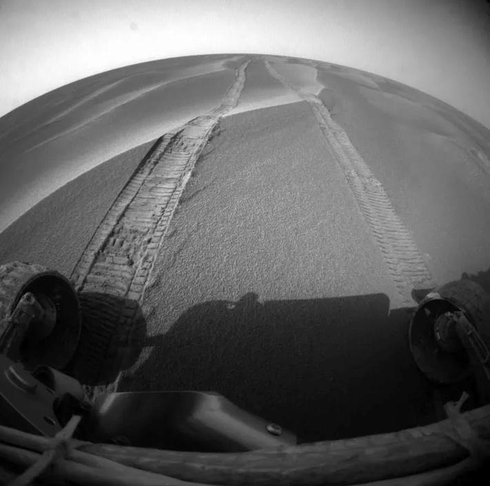 Đường đi của Opportunity trên bề mặt cát sao Hỏa. Ảnh: NASA.
