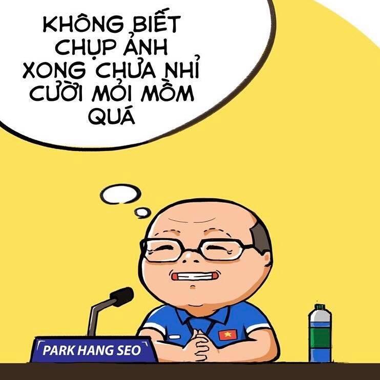 Loat khoanh khac dang yeu cua HLV Park Hang-seo qua tranh ve hinh anh 10