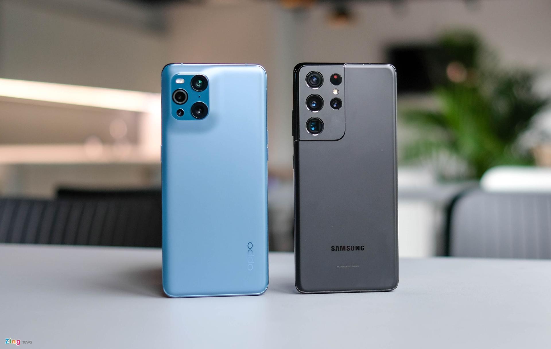 So sánh Oppo Find X3 Pro với Galaxy S21 Ultra 5G