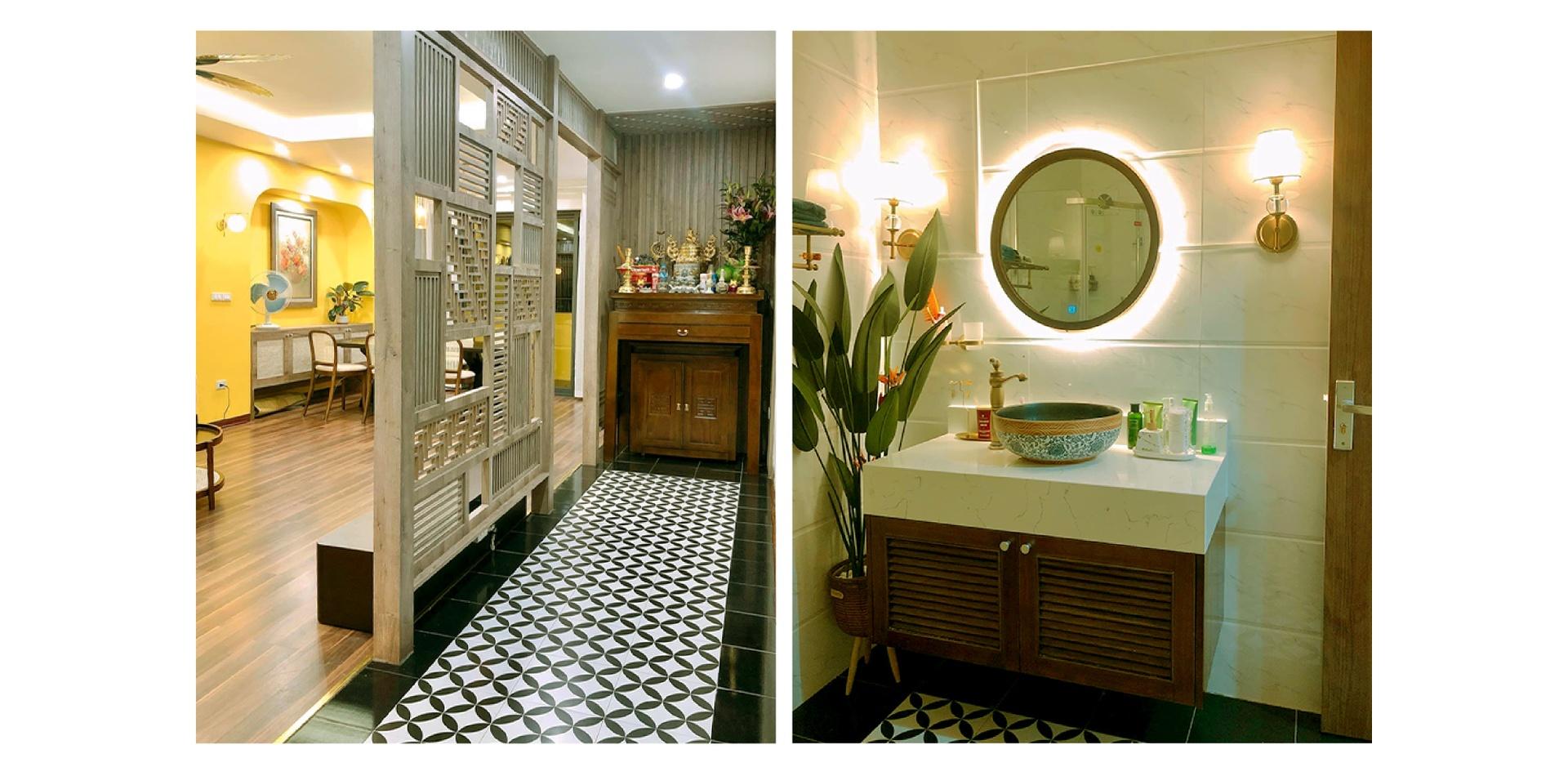 Thiết kế căn hộ phong cách Indochine với chi phí 900 triệu đồng