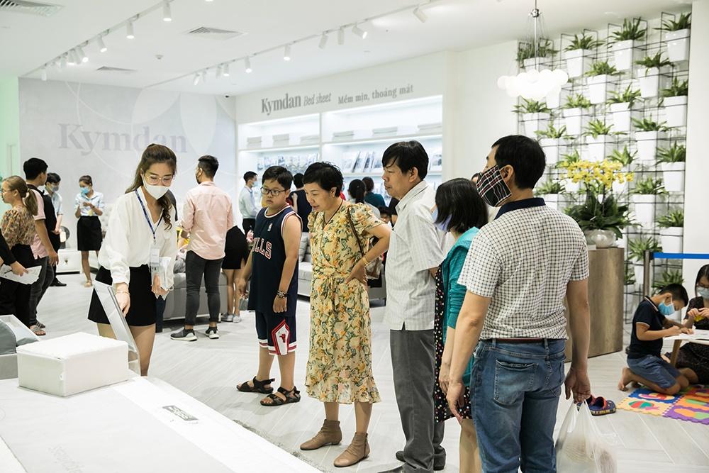 Cửa hàng Kymdan có mặt tại nhiều trung tâm mua sắm cao cấp