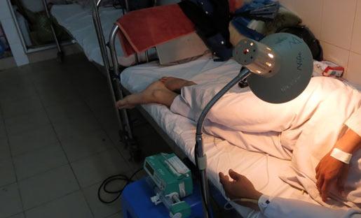"""Một trong nhiều bệnh nhân bị cắt """"của quý"""" nằm điều trị tại BV ĐK Trung ương Cần Thơ."""
