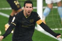 Messi choi no luc trong tran thang 3-0 cua Barca hinh anh