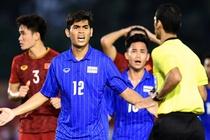 'Trong tai co ly khi thoi penalty voi cau thu U22 Thai Lan' hinh anh