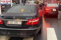 Pha duong day lam gia giay to tu vu 2 xe Mercedes mang cung bien so hinh anh