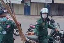 Canh sat Phnom Penh se quat roi nguoi vi pham lenh phong toa hinh anh