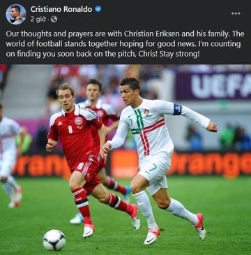 Ronaldo dong vien Eriksen anh 1