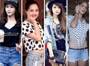 Hotgirl Kha Ngan, Bao Anh hut hon voi quan short jeans hinh anh