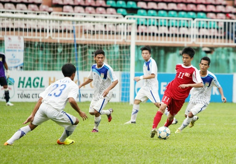 U19 Viet Nam huong den hat-trick chien thang truoc U19 Lao hinh anh