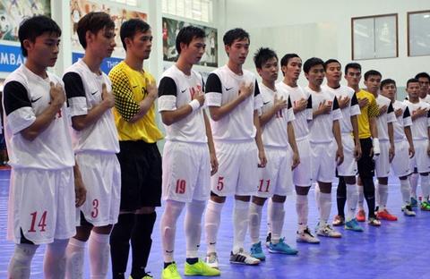 Futsal Viet Nam tim ve du VCK chau luc hinh anh