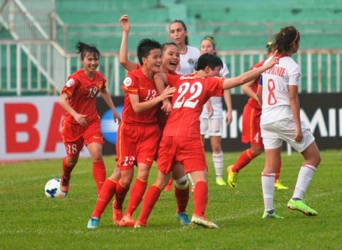 Tuyen nu Viet Nam mo toang canh cua du play-off World Cup hinh anh
