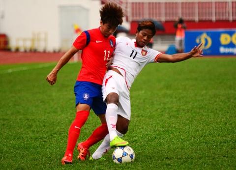 Thua U19 Han Quoc, U21 Myanmar tranh ve ban ket voi HAGL hinh anh