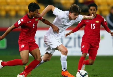 U20 New Zealand thang U20 Myanmar 5-1 o giai U20 the gioi 2015 hinh anh