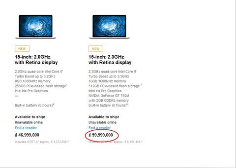 MacBook Pro ban 'xin' nhat co gia 60 trieu tai Viet Nam hinh anh