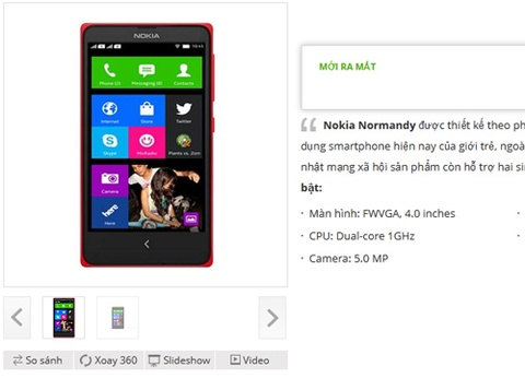 Nokia Normandy ro ri o VN, thang 2 len ke hinh anh