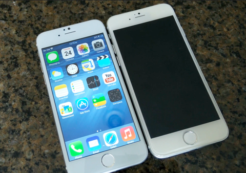 Anh thuc te iPhone 6 nhai chay Android KitKat hinh anh