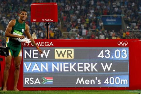 Wayde van Niekerk pha ky luc the gioi cu ly 400 m hinh anh