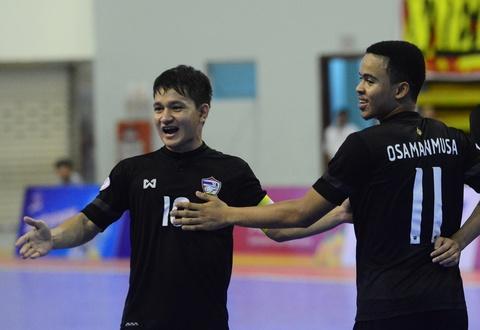 Nhan chim Myanmar, futsal Thai Lan cham tay vao ngoi vo dich hinh anh