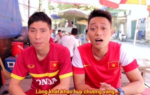Clip che co vu tinh than U23 Viet Nam tai SEA Games 28 hinh anh