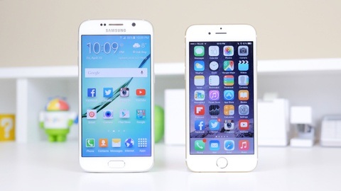 s6 vs iphone 6 hinh anh
