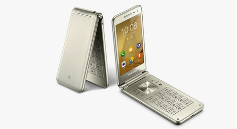 Samsung ra mat Galaxy Folder 2 nap gap, gia gan 300 USD hinh anh