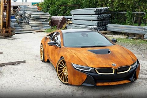 BMW i8 do dan ao ri set cua ca si Austin Mahone hinh anh