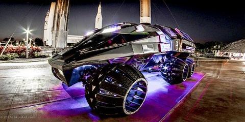Xe du hanh Hoa tinh giong Batmobile cua NASA hinh anh