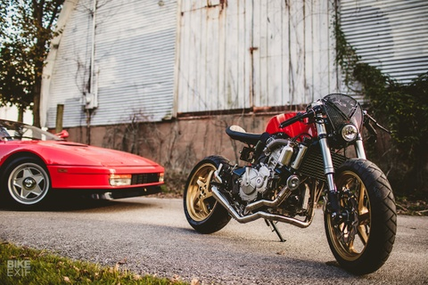 Honda CB600F do cafe racer dung iPhone lam dong ho hinh anh