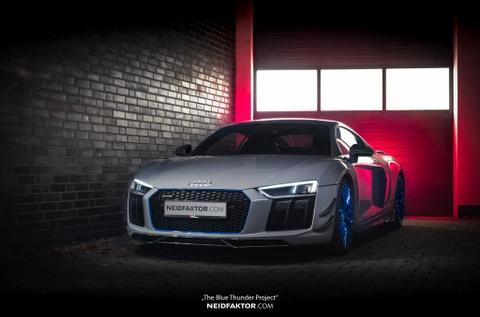 Audi R8 V10 Plus duoc boc carbon hinh anh