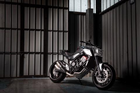 Honda ra mat nakedbike Neo Sports Cafe Concept tai Paris Motor Show hinh anh