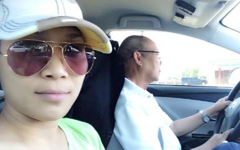 Hong Ngoc ban loan vi bi tong xe o My hinh anh