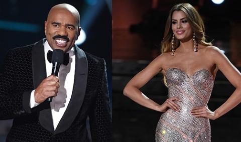 Hoa hau Colombia khuyen MC Miss Universe hoc cach doc hinh anh