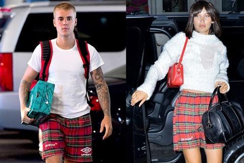 Justin Bieber mac quan doi voi chan dai 9X Bella Hadid hinh anh